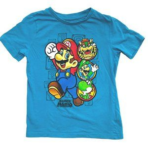 Super Mario Blue Graphic T-Shirt